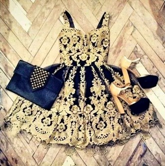 dress high heels shirt gold shoes embellished dolce and gabbana holiday dress