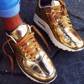 shoes,gold airs,nike air