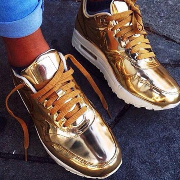 shoes gold airs nike air