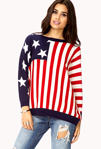 Americana Dolman Sweater | FOREVER21 - 2079346146