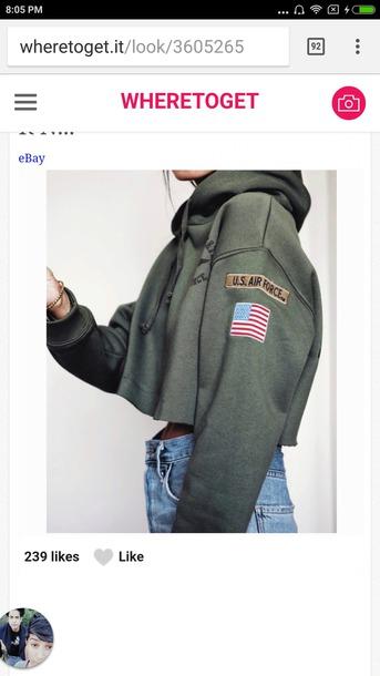 sweater in army green