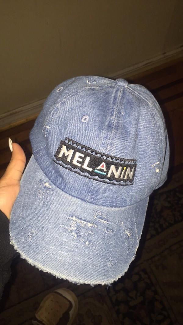 Hat Denim Hat Cap Melanin Rare Martin Throwback