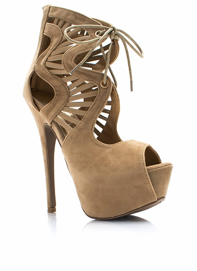 Climb-The-Ladder-Cut-Out-Heels BEIGE PURPLE BLACK - GoJane.com