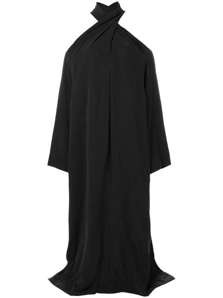 dress cross maxi women criss cross grey