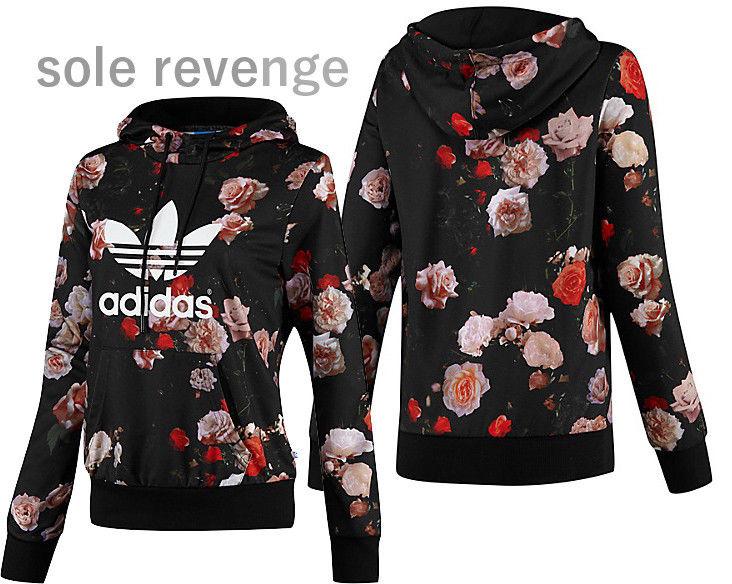 neue adidas originals womens trefoil - logo kapuzenpulli rosen