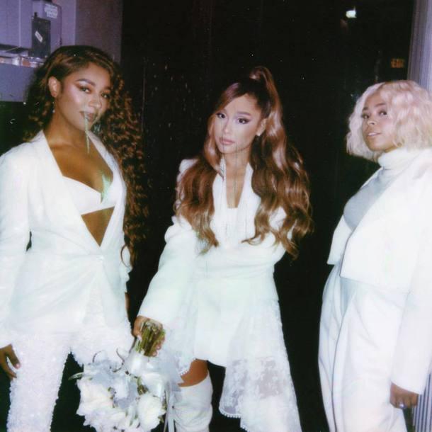 jacket instagram music video ariana grande celebrity white white blazer blazer