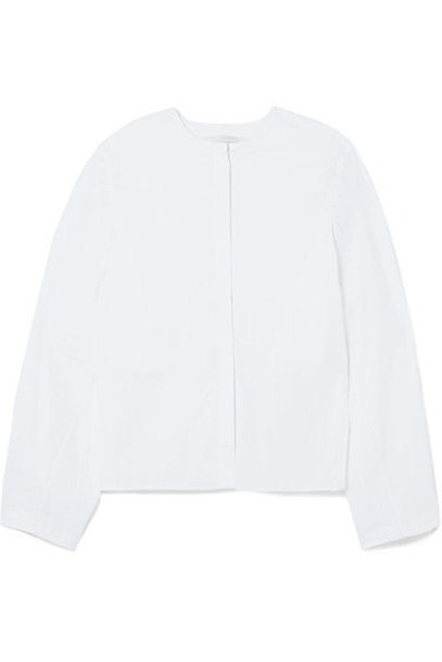 Dion Lee shirt back open white cotton top