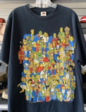 shirt,the simpsons,cute,help me find this,trendy,black,colorful