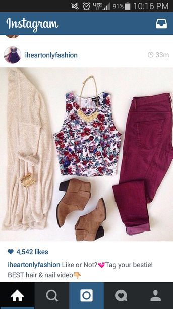shirt shoes top cardigan tan beige cute sweater forever 21 tumblr outfit tumblr outfit ideas floral burgundy