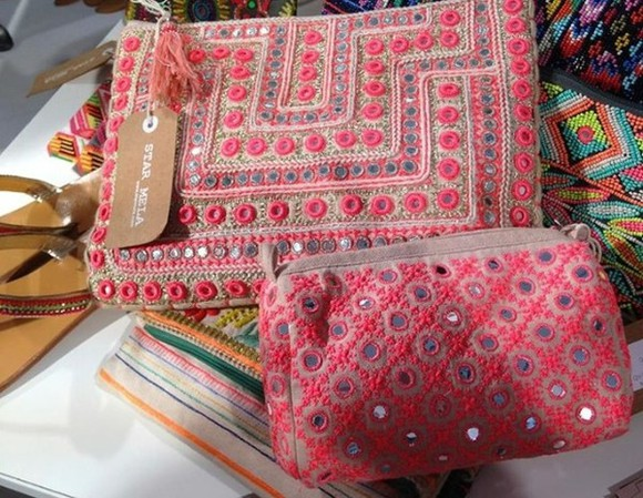 bag indian indie clutch pink india love india rose indie bag indiestyle