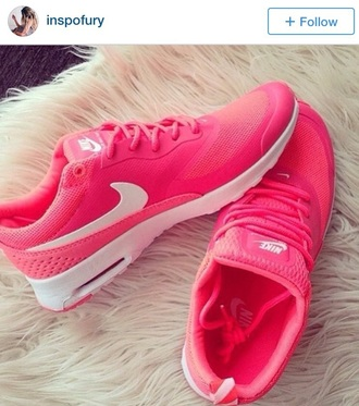 shoes nike air max thea pink shoes sports shoes nike air