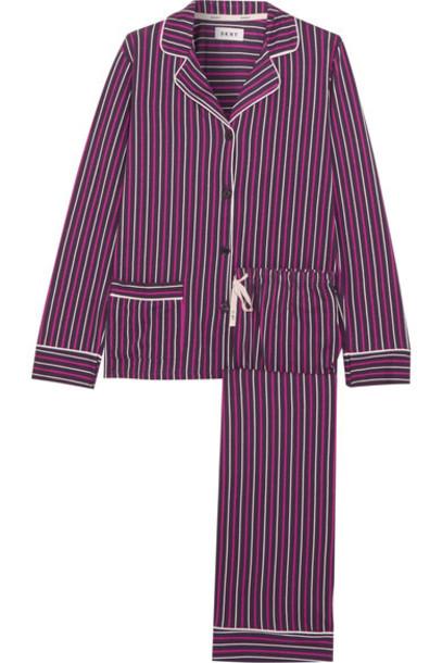 DKNY pajamas dark new classic cotton purple underwear