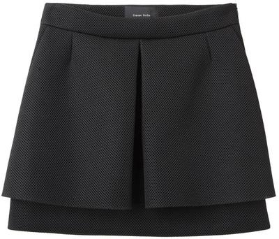Simone Rocha Mesh Pleat Front Skirt - Polyvore