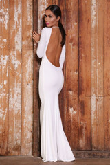 Sierra backless gown (white)