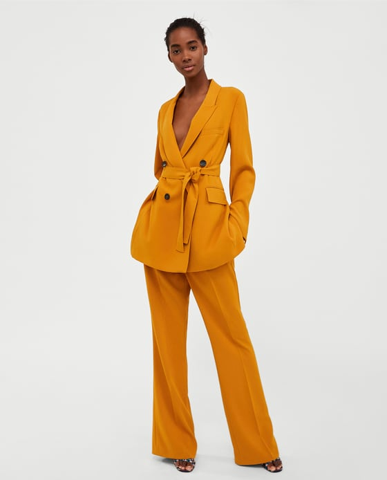 LONG BELTED JACKET - BLAZERS-WOMAN | ZARA United States