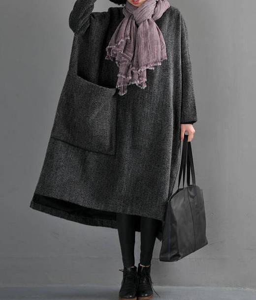 dress maxi dress wool robe