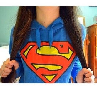 jacket blue superman hoodie jacket