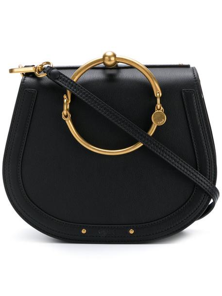 Chloe women bag shoulder bag leather black
