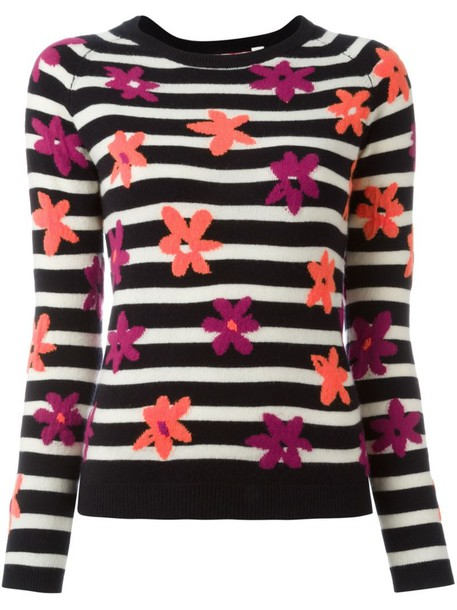 Chinti and Parker jumper floral blue sweater
