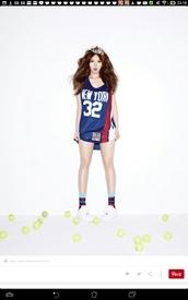 top,hyuna,4minute,bubble pop,bubble pop mv,kpop,kpop tshirt,kpop idol,kpop star,new york shirt,new york,new york city,blue,red,white,shirt