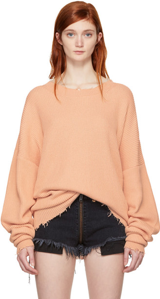 UNRAVEL sweater oversized pink