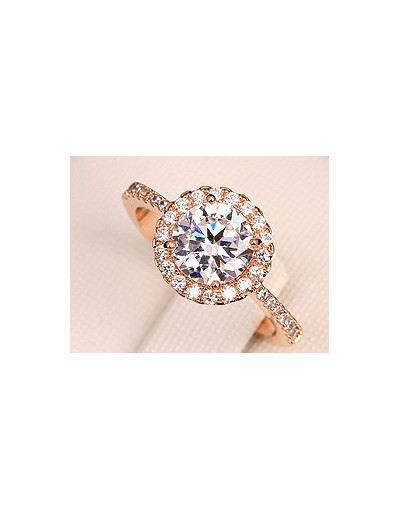 Diamond gold ring engagement rings gold plated crystal wedding jewelry