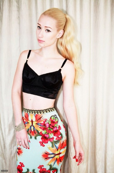 summer skirt iggy azalea floral cute skirt bright colored tight need these