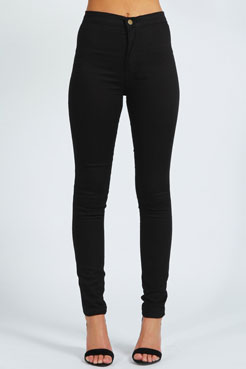 Avah High Rise Disco Jeans at boohoo.com