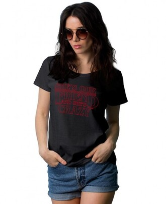 t-shirt stranger things she is our friend and she is crazy logo shirt she is our friend and she is crazy shirt
