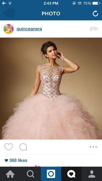 dress pink dress quinceanera dress