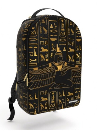 bag backpack black gold egyptian egyptian style