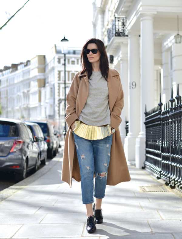 northern light jeans t-shirt coat bag jewels shoes