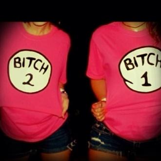 shirt bff matching shirts bitch bitch one bitch two bets friends best friend shirts