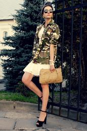 oh my blog,dress,jacket,sunglasses,jewels,shoes