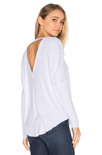 oversized back white top