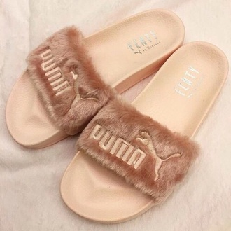 shoes puma fur rihanna