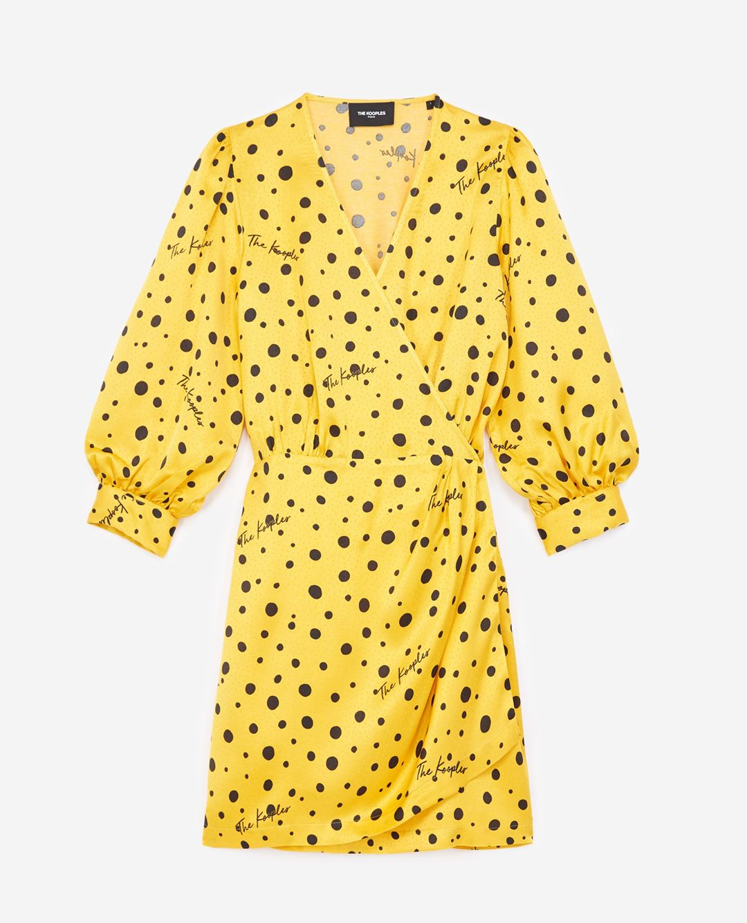 The Kooples - Polka-dot yellow wrap dress - WOMEN