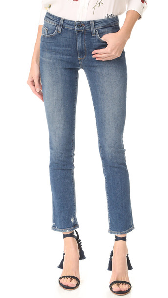 Paige Julia Straight Leg Jeans - Nash