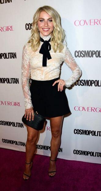 blouse shorts julianne hough lace lace top