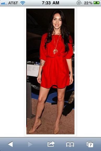dress mini dress dolman megan fox