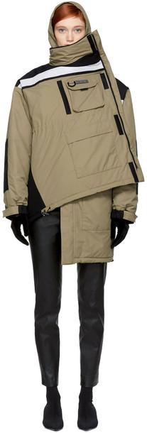 Balenciaga coat tan black