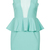 ROMWE | Sleeveless Mint Peplum Dress, The Latest Street Fashion