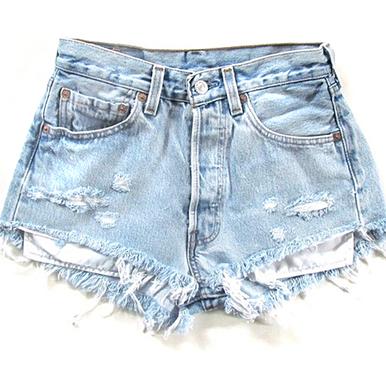 Original 320 Scuffed Shorts - Arad Denim