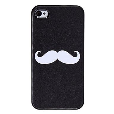 EUR € 2.32 - Carcasa Dura de Bigote para el iPhone 4 y 4S, ¡Envío Gratis para Todos los Gadgets!