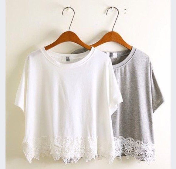 top grey lace top lace so cute! must have white white crop tops grey crop top lace detailing