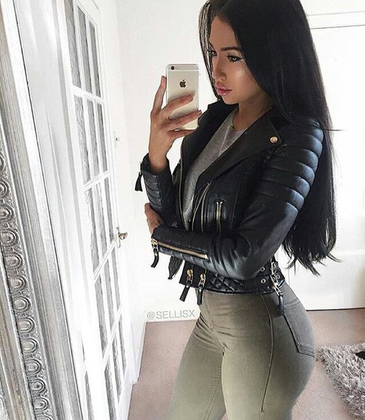 Sexy leather jackets for women