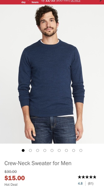 sweater old navy blue crewneck sweater