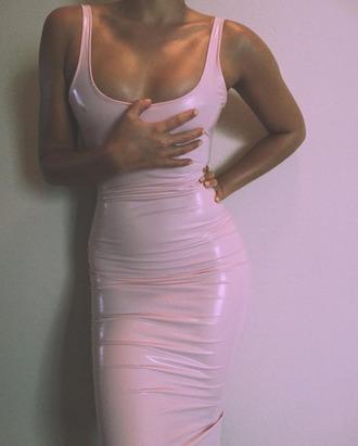 dress pink pink dress liquid spandex shiny shiny dress pastel pink pastel dress bodycon dress vinyl vinyl dress plastic pink plastic dress any color latex dress