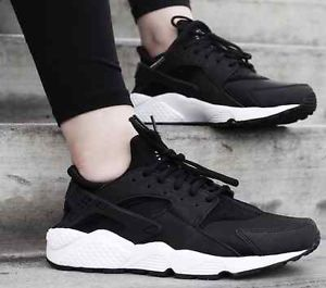 Nike Air Huarache OG Triple Black White Women Girls 634835 006 Foot Locker