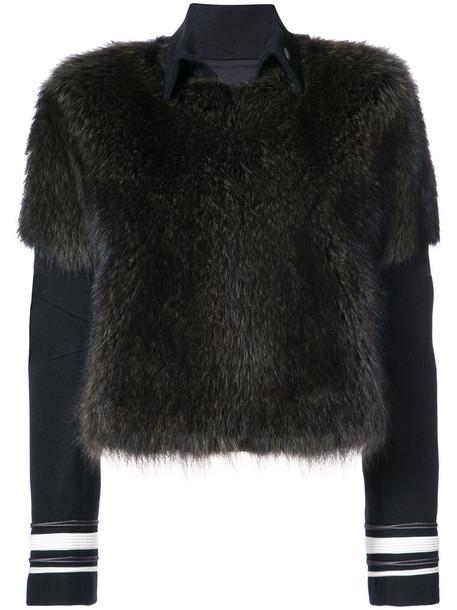 Vera Wang jacket fur jacket fur women cotton brown